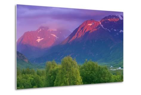 Aplenglow Sunset over Polar Bear Peak and Eagle Peak-Design Pics Inc-Metal Print