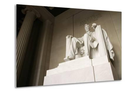 Monumental Statue of Abraham Lincoln in the Lincoln Memorial-Design Pics Inc-Metal Print