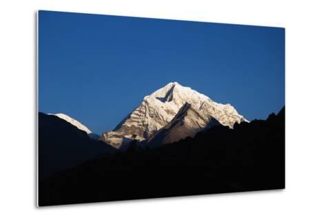 Sunrise on the Summits Above Namche Bazaar, Nepal-Design Pics Inc-Metal Print