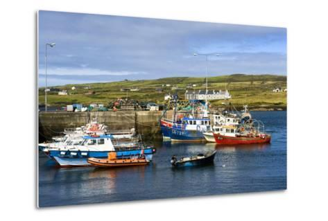 Fishing Boats at Portmagee in Kerry, Ireland-Chris Hill-Metal Print