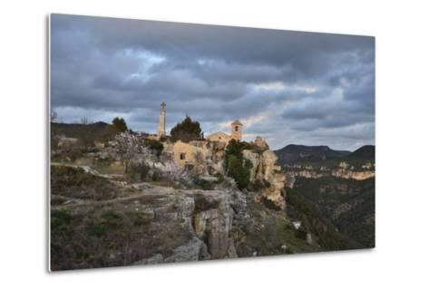 Sunset at the Village of Siurana, Spain-Keith Ladzinski-Metal Print