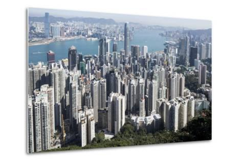 City Skyline from Victoria Peak, Hong Kong, China-Paul Souders-Metal Print
