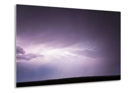 Cloud-To-Cloud Lightning Wriggles across the Sky-Jim Reed-Metal Print