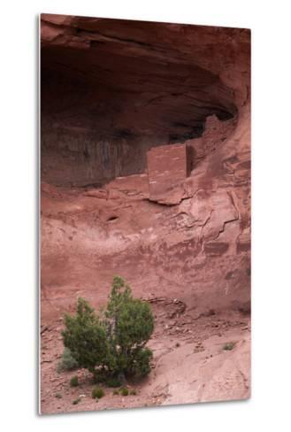 Navajo Nation, Monument Valley, Anasazi Cliff Dwelling, Mystery Valley-David Wall-Metal Print