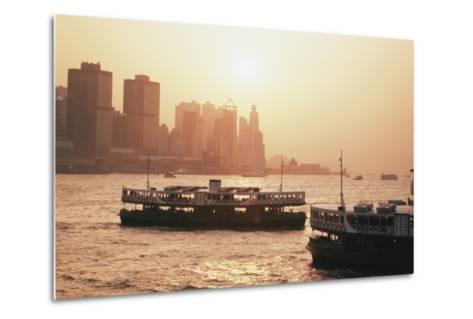 Hong Kong, Tsim Sha Tsui, View of Skyline and Star Ferry-Stuart Westmorland-Metal Print