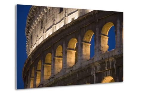 View of the Roman Coliseum in Rome-Design Pics Inc-Metal Print