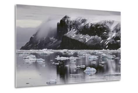 Devil's Island and Floating Ice in the Weddell Sea-Jim Richardson-Metal Print