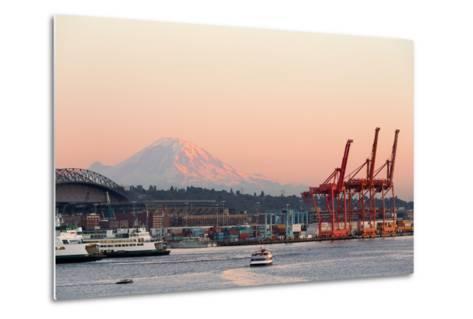 The Port of Seattle.-Jon Hicks-Metal Print