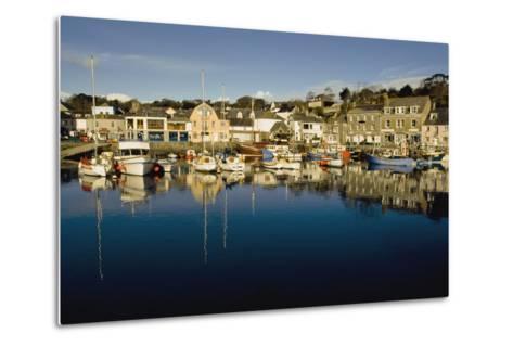 Padstow Marina Reflecting in Water-Design Pics Inc-Metal Print