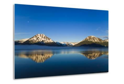 Panoramic View of Turnagain Arm and Kenai Mountains Near Girdwood-Design Pics Inc-Metal Print