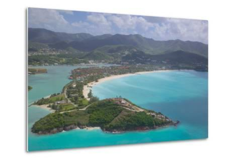View over Jolly Harbour, Antigua, Leeward Islands, West Indies, Caribbean, Central America-Frank Fell-Metal Print