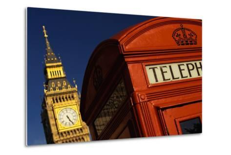Big Ben and Telephone Booth-Jon Hicks-Metal Print