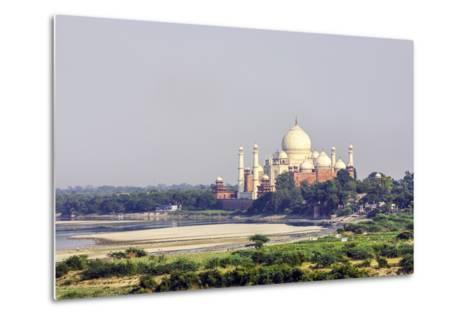 Taj Mahal in Agra-Jorg Hackemann-Metal Print