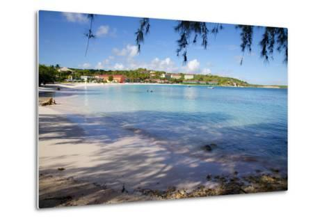 View of Long Bay and Beach-Frank Fell-Metal Print