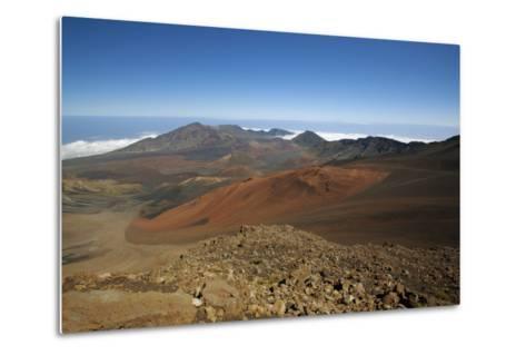 Hawaii, Maui, Haleakala Crater Landscape-Design Pics Inc-Metal Print