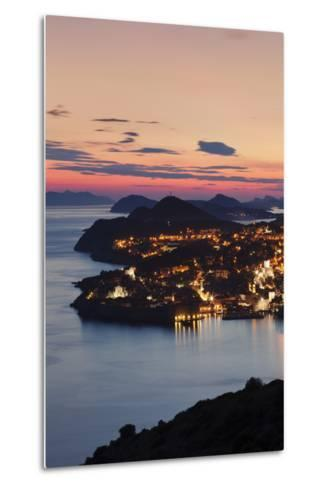 High Angle View of Dubrovnik at Sunset, UNESCO World Heritage Site, Dalmatia, Croatia, Europe-Markus Lange-Metal Print