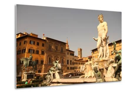 Fountain of Neptune in Florence.-Spectral-Design-Metal Print