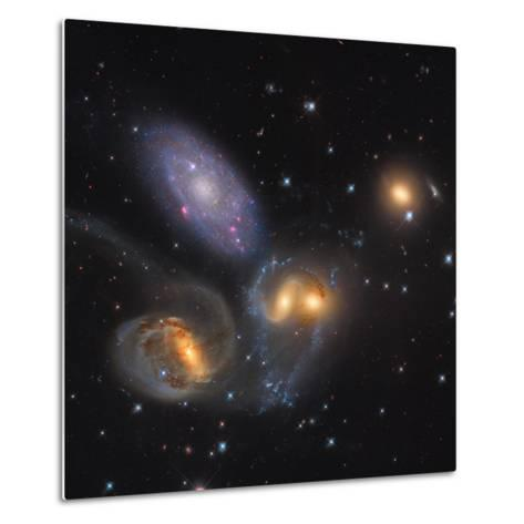 Stephan's Quintet, a Grouping of Galaxies in the Constellation Pegasus--Metal Print