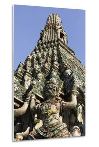 Wat Arun (The Temple of Dawn) Stupa, Bangkok, Thailand, Southeast Asia, Asia-Stuart Black-Metal Print