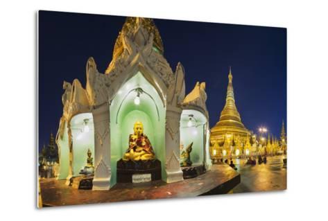 Shwedagon Paya at Dusk-Jon Hicks-Metal Print