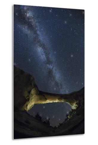 Natural Bridges National Monument at Night-Jon Hicks-Metal Print