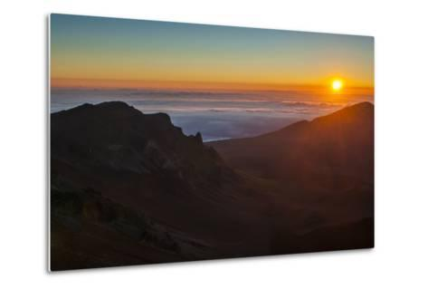Sunrise Above Haleakala National Park, Maui, Hawaii, United States of America, Pacific-Michael Runkel-Metal Print