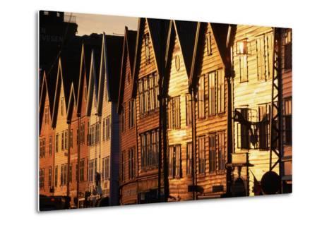 Old Merchant Houses at Sunset-Paul Souders-Metal Print