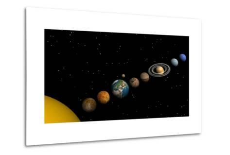 Planets of the Solar System--Metal Print