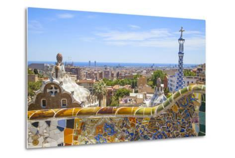 Park Guell in Barcelona-lorenzobovi-Metal Print