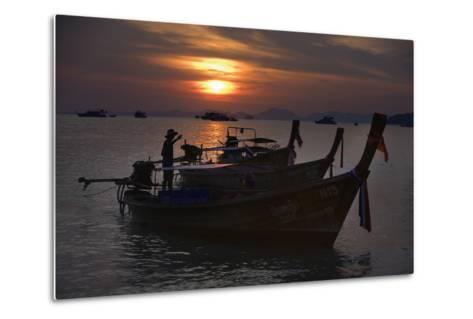 Boats at Sunset, Krabi, Thailand-Design Pics Inc-Metal Print