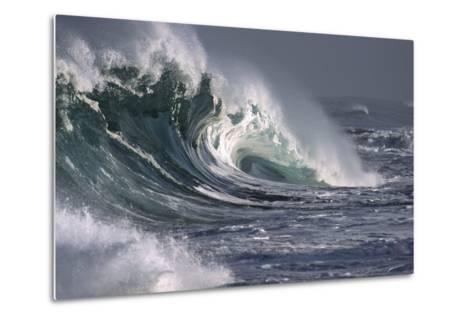 Hawaii, Big Powerful Wave Break-Design Pics Inc-Metal Print