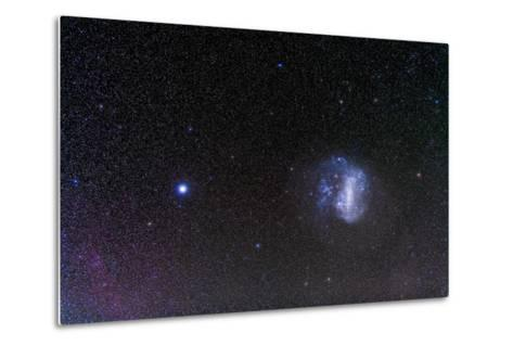 The Large Magellanic Cloud and Bright Star Canopus--Metal Print