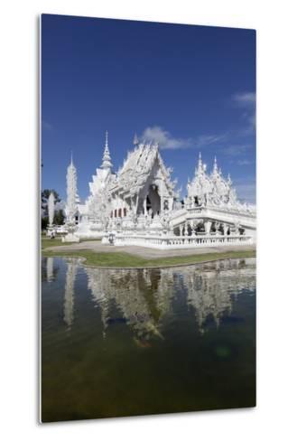 Wat Rong Khun (White Temple), Chiang Rai, Northern Thailand, Thailand, Southeast Asia, Asia-Stuart Black-Metal Print