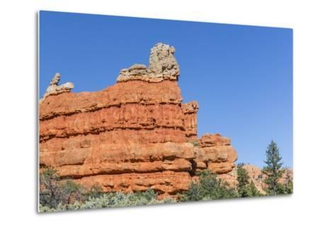 Red Sandstone Formations in Red Canyon-Michael Nolan-Metal Print