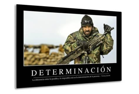 Determinación. Cita Inspiradora Y Póster Motivacional--Metal Print