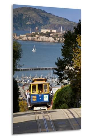 San Francisco cable car, California, USA-Brian Jannsen-Metal Print