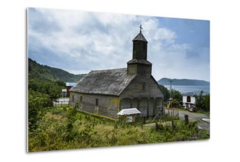The Wooden Church of Detif, UNESCO World Heritage Site, Chiloe, Chile, South America-Michael Runkel-Metal Print