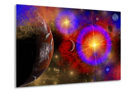 A Colorful Section of Alien Space in Our Galaxy--Metal Print