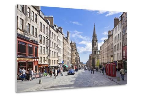 The High Street in Edinburgh Old Town-Neale Clark-Metal Print