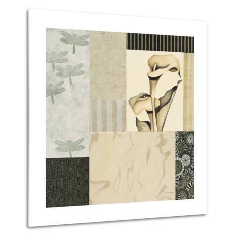 Collage with Calla Lillies #3-Julieann Johnson-Metal Print