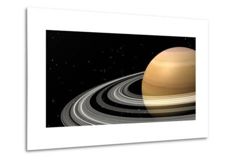 Close-Up of Saturn and its Planetary Rings--Metal Print