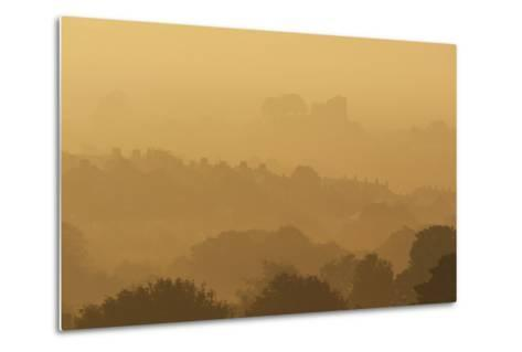 The Town and Castle of Lewes Early on a Misty, Autumnal Morning, East Sussex, Uk-Design Pics Inc-Metal Print