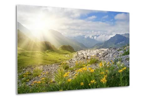 Mountains Landscape in Vorarlberg, Austria-egal-Metal Print