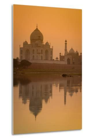 Taj Mahal Reflected in the Yamuna River at Sunset-Doug Pearson-Metal Print