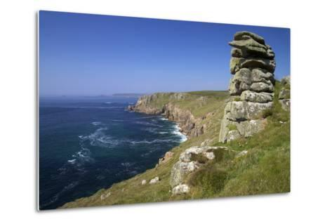 Looking to Sennen Cove from Lands End, Summer Sunshine, Cornwall, England, United Kingdom, Europe-Peter Barritt-Metal Print