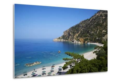 Apella Beach, Karpathos, Dodecanese, Greek Islands, Greece, Europe--Metal Print