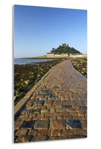 Causeway to St. Michaels Mount, Penzance, Cornwall, England, United Kingdom, Europe-Peter Barritt-Metal Print