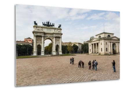 The Arch of Peace (Arco Della Pace), Sempione Park, Milan, Lombardy, Italy, Europe-Yadid Levy-Metal Print