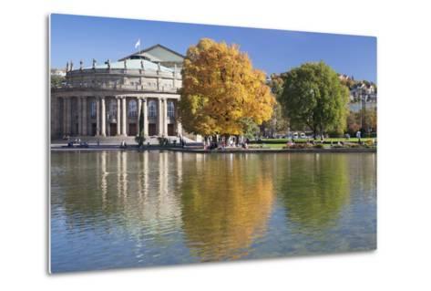 Staatstheater (State Theatre) and Schlosspark in Autumn-Markus Lange-Metal Print