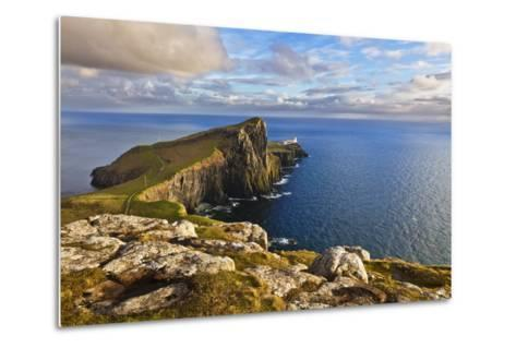 Neist Point and Lighthouse-Neale Clark-Metal Print